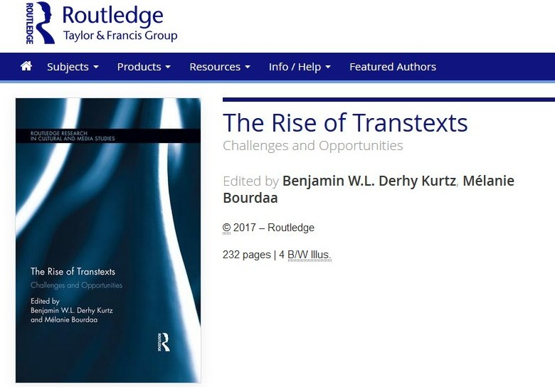 The Rise of Transtexts Published This Week