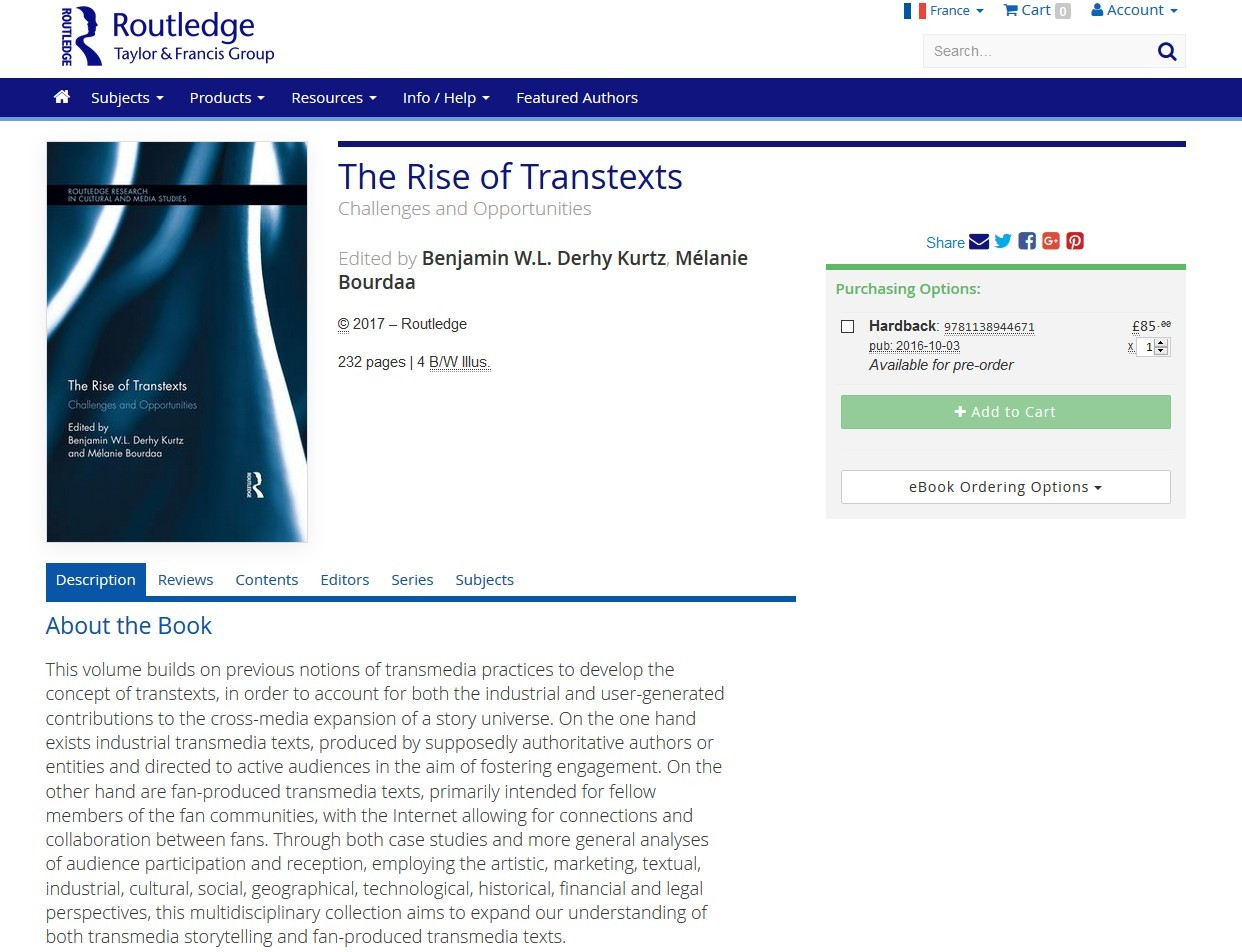 rise of transtexts - routledge page
